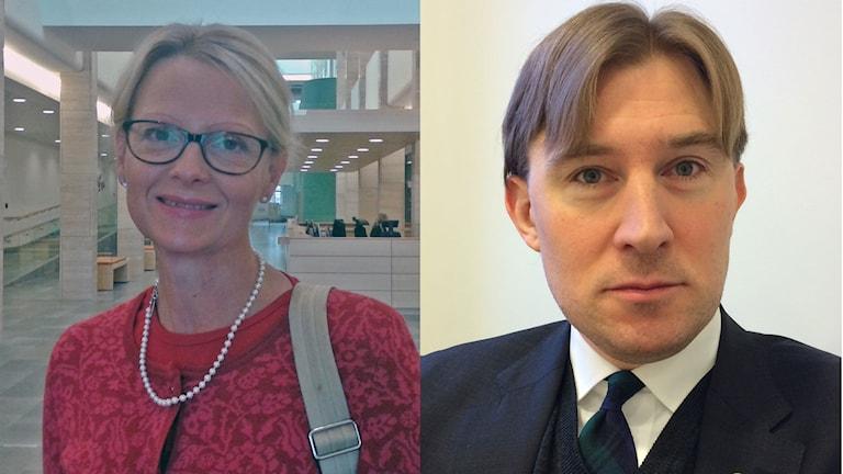 Helene Fritzon, (S), kommunstyrelsens ordförande i Kristianstad och Henrik Fritzon, s, regionstyrelsen ordförande i Region Skåne. Foto: Odd Clausen/Sveriges Radio.