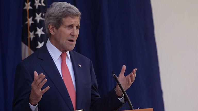 USA:s utrikesminister John Kerry. Foto: TT