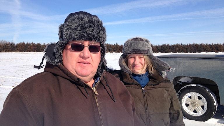 Helen och Art Tanderup försöker stoppa bygget av Keystone XL pipeline. De tänker inte sälja rättigheterna till sin mark. Nu riskerar de expropriation. Foto: Inger Arenander/Sveriges Radio