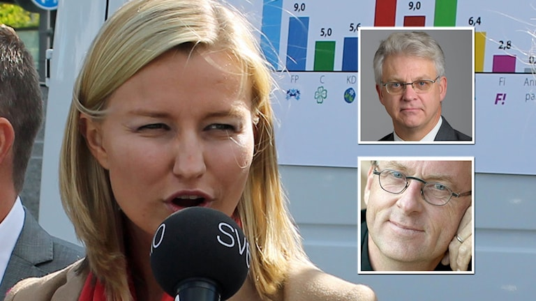 Kristdemokraterna Ebba Busch Thor, Tuve Skånberg och Roland Utbult. Kollage: Sveriges Radio.