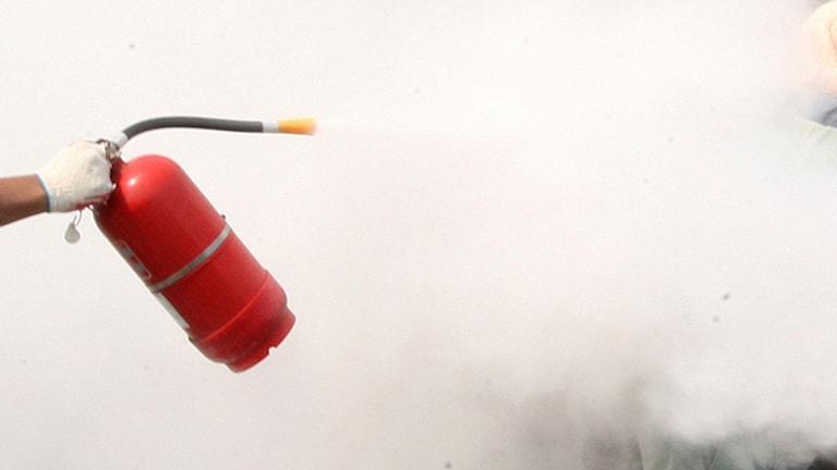 Brandsläckare. Foto: TT