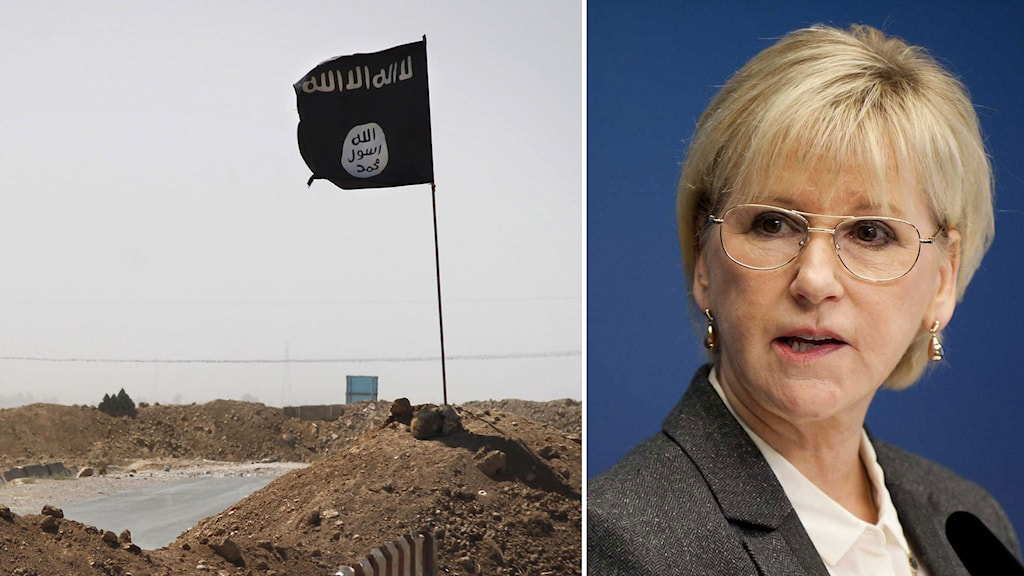 Utrikesminister Margot Wallström. Kollage: Sveriges Radio.