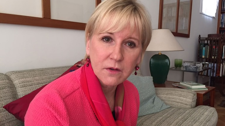 Margot Wallström, Sveriges utrikesminister. Foto: Cecilia Uddén/Sveriges Radio.