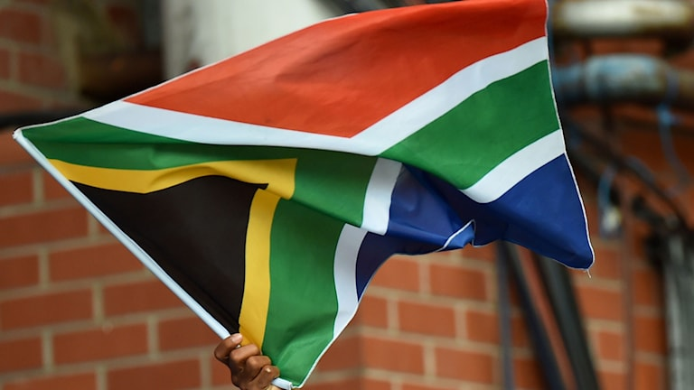 Sydafrikas flagga. Foto: TT/AFP/Ben Stansall