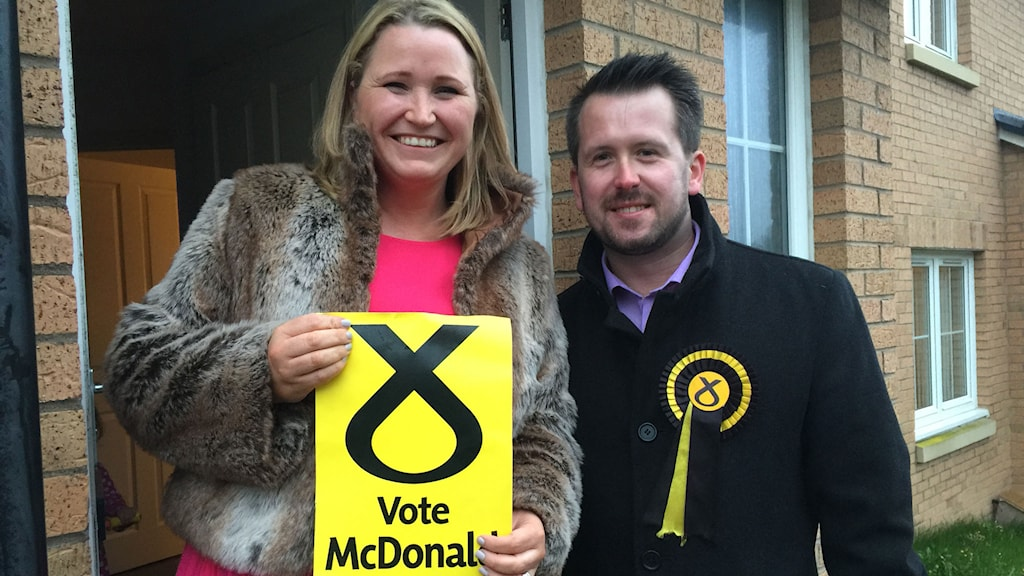 Yvonne McKennan och Stewart McDonald. Foto: Staffan Sonning/Sveriges Radio