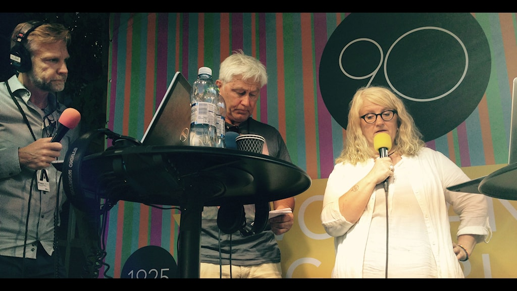 Thomas Ramberg, Odd Inge Skjaevesland och Brit Stakston. Foto: Per Hylén/Sveriges Radio
