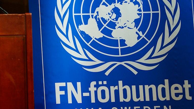 Svenska FN-förbundets logga. Foto: TT.