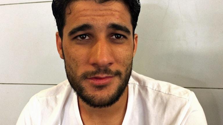 Ibrahim, fotbollspelare från Homs. Foto: Johan-Mathias Sommarström/Sveriges Radio.