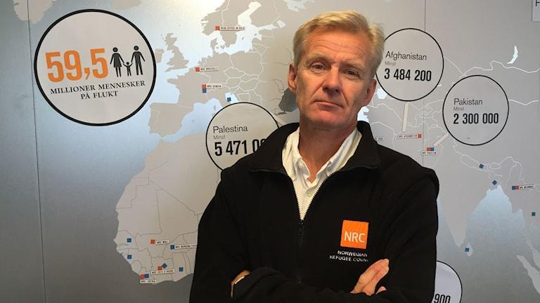 """Fremskrittspartiet """"har dessbättre feltolkat opinionen"""" i flyktingfrågan, enligt Jan Egeland på Norska Flyktingrådet.Foto: Jens Möller/Sveriges Radio."""