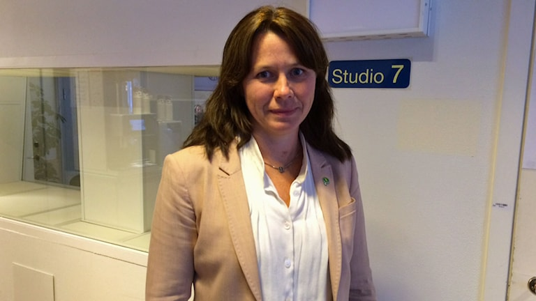 Miljöminister Åsa Romson. Foto: Helena Ulander/Sveriges Radio.