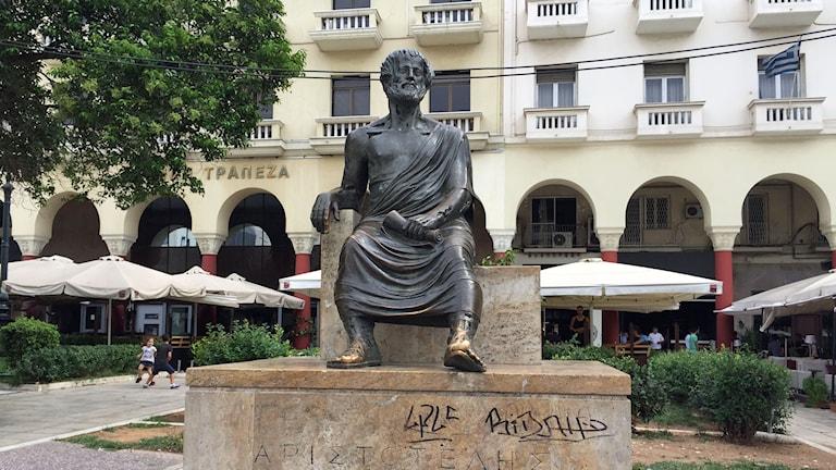 staty på grekiskt torg