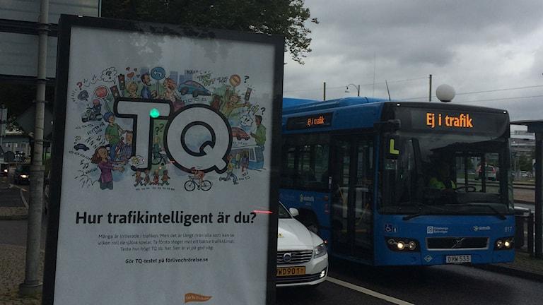 En av de vanliga och godkända reklamskyltarna i Göteborg. Foto: Carina Holmberg/Sveriges Radio