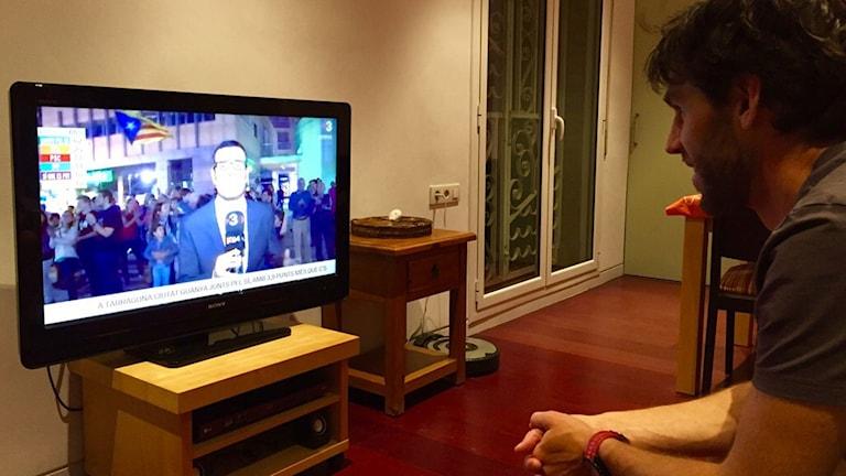 Marcel Escursell, katalan som rest till Barcelona för att rösta men som bor i Göteborg. Foto: Privat