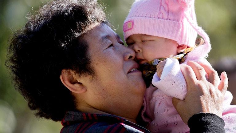 Kina överger ettbarnspolitiken. Foto: Andy Wong/TT.