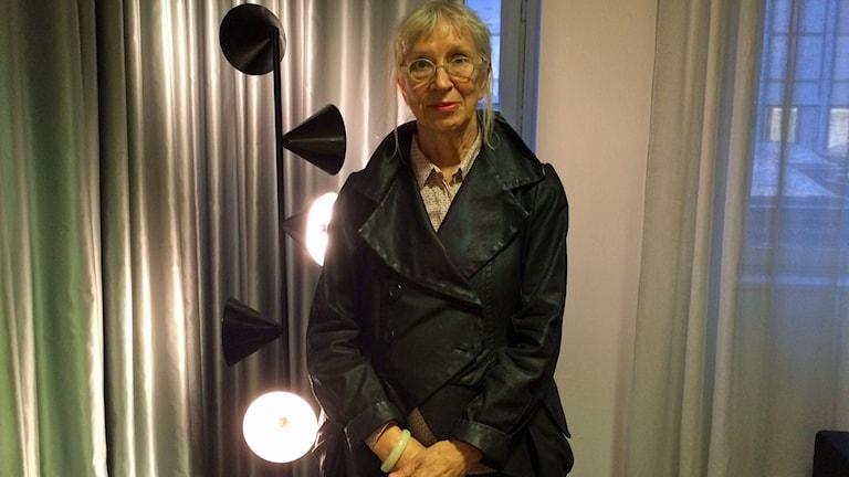 """Suzanne Osten, pjäsförfattare till """"Medeas Barn"""". Foto: Helena Ulander/Sveriges Radio."""