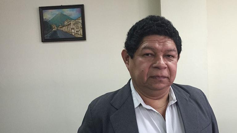 El Salvadors justitieminister Benito Lara. Foto: Lotten Collin/Sveriges Radio.