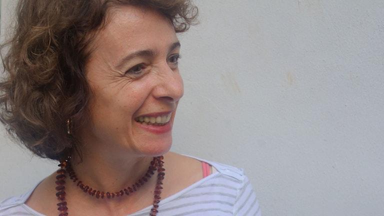 Sana Yazigi i Beirut. Foto: Katja Magnusson/Sveriges Radio