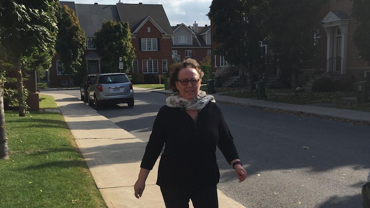 Sheila Watt-Cloutier, från Québec kommer till Stockholm för att för att motta Right Liveliehoodpriset Foto: Inger Arenander/Sveriges Radio.