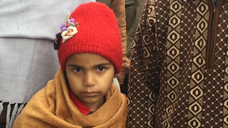 Femåriga Aanchal har leukemi och tvingas nu åka till cancersjukhuset varannan vecka.
