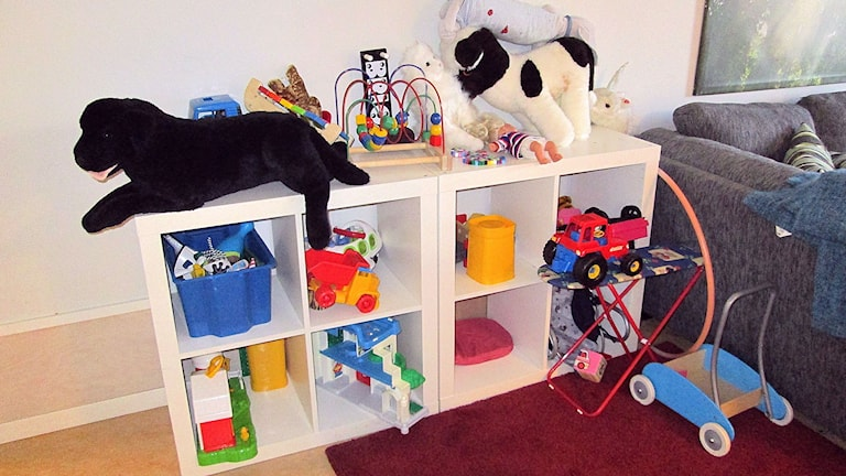 Allrum med gemensamma leksaker.
