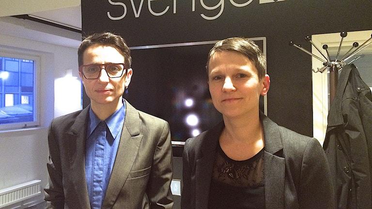 Författare Masha Gessen och regissör till Malin Steneberg. Foto: Ida Bellinder/Sveriges Radio