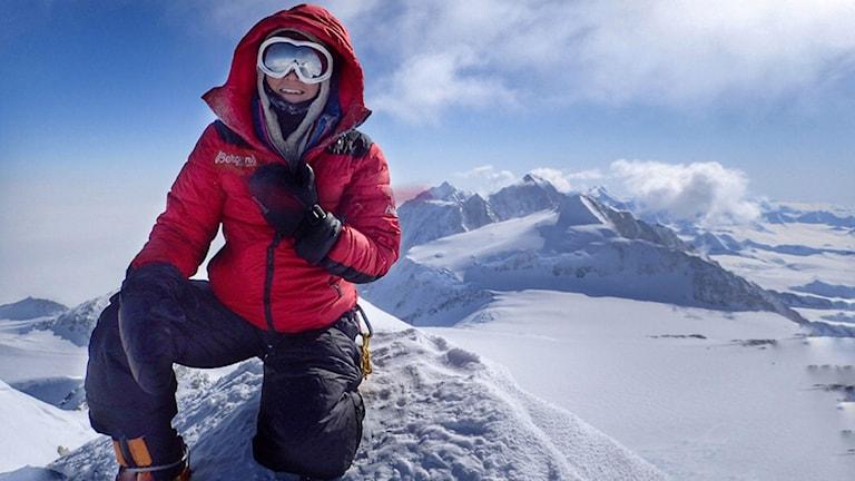 Annelie Pompe, Vinson Massif, Antarktis.