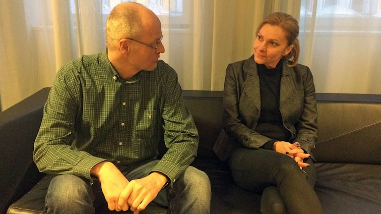 Mats Löfving, ställföreträdande rikspolischef och Polisförbundets ordförande Lena Nitz.