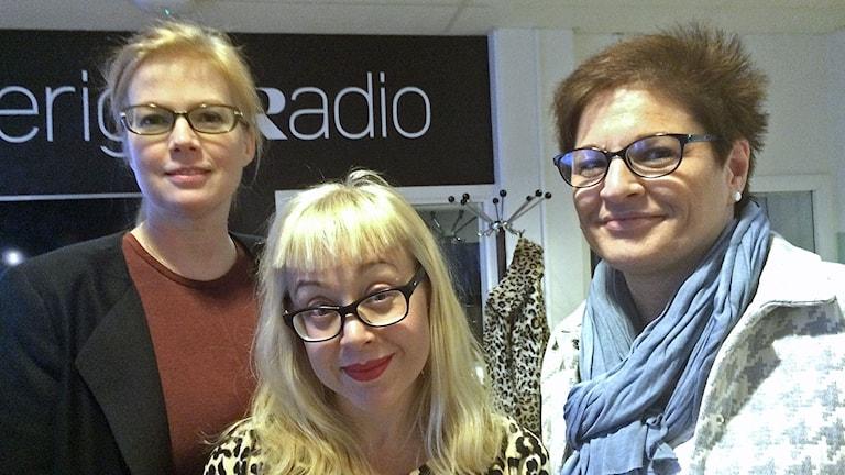 Anna Starbrink (L), Anna Bäsén, medicinreporter Expressen och Sineva Ribeiro, ordförande Vårdförbundet.