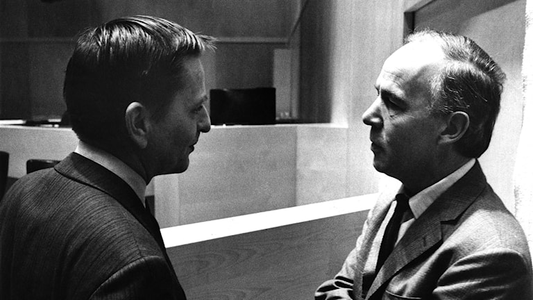 Statsminister Olof Palme och VPK:s partiledare C-H Hermansson