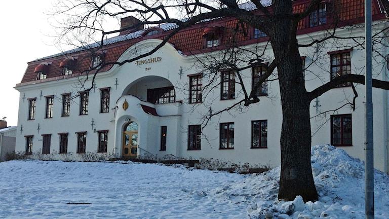Tingsrätten i Hudiksvall. Foto: Emelie Rosén/Sveriges Radio.