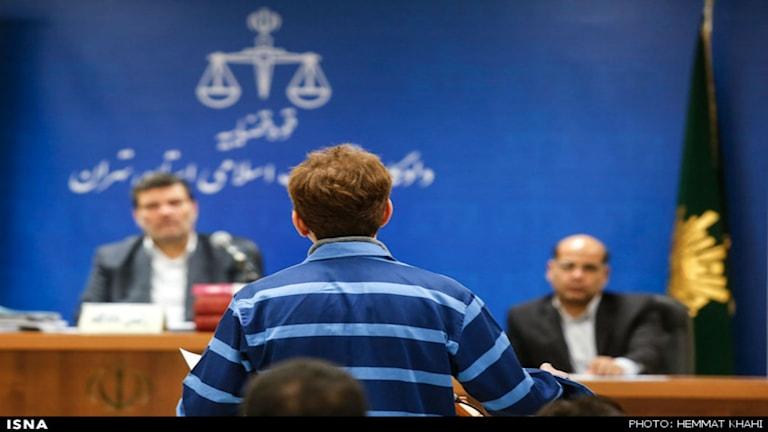 Babak Zanjani, under hans rättegång Foto: Nyhetsbyrån, Isna
