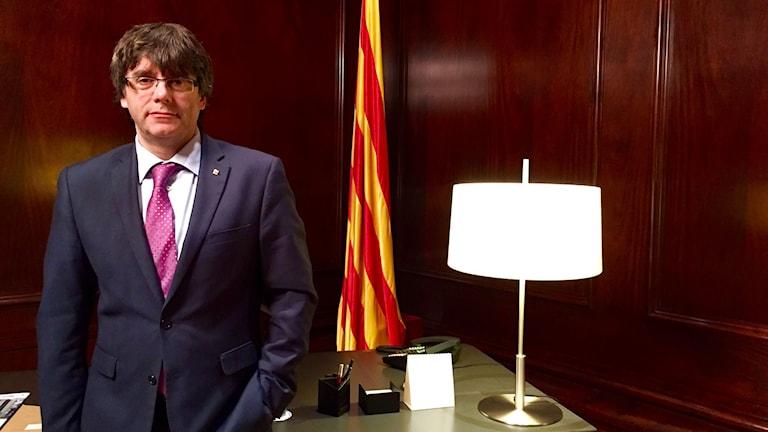 Kataloniens regionpresident Carles Puigdemont. Foto: Beatrice Janzon/Sveriges Radio.