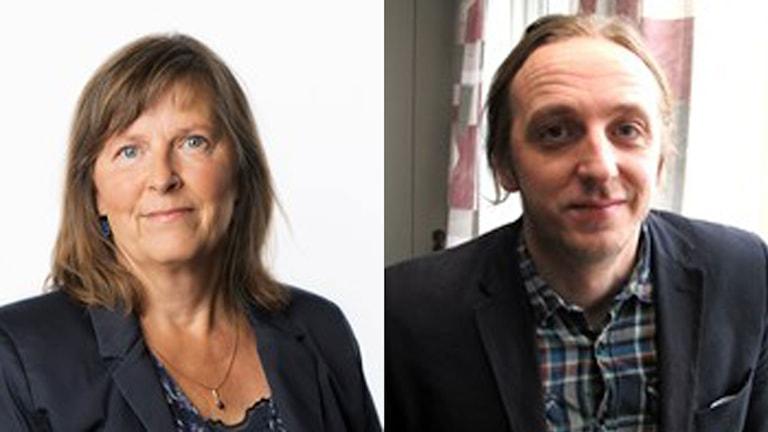 Sveriges Radios Moskvakorrespondent Maria Persson Löfgren och Martin Schibbye, redaktör för Blank Spot-Project.
