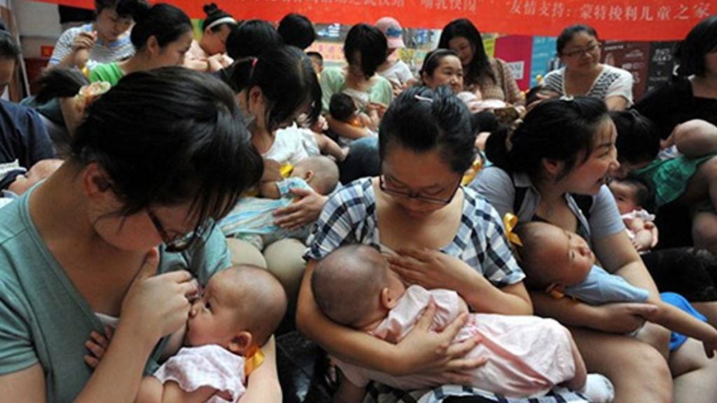 Amningsevent i Shanghai 2012 Foto: Vanessa Dewey