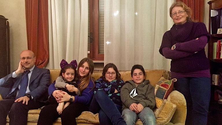 Familjen Baldoni i Rom.