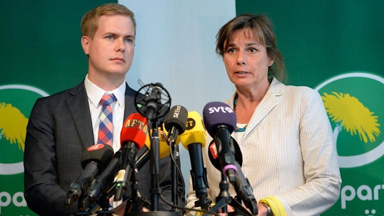 Isabella Lövin och Gustav Fridolin