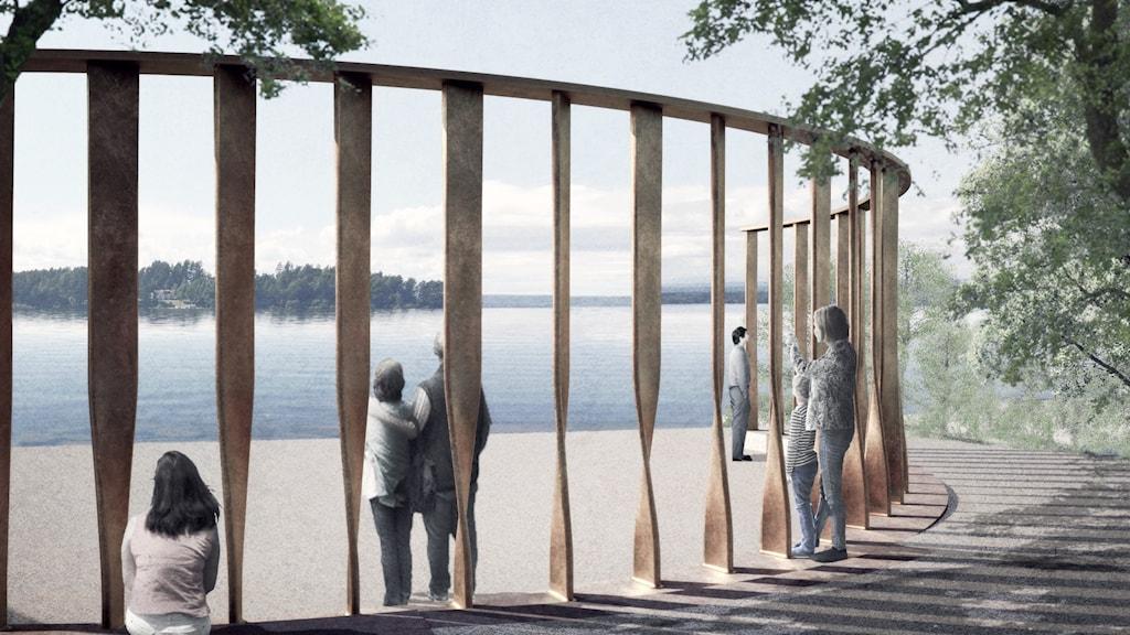 De 77 bronspelarna representerar dödsoffren för terrorn den 22 juli 2011 och är centrala i det planerade nationella minnesmärket vid Utøyakajen.