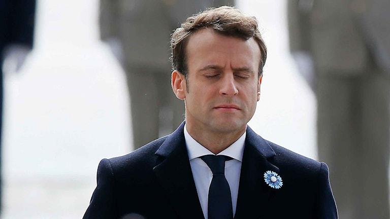 Franska presidenten Emmanuel Macron.