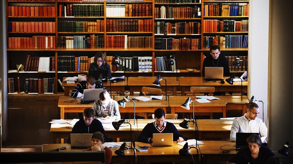 Studenter på Uppsala universitet.