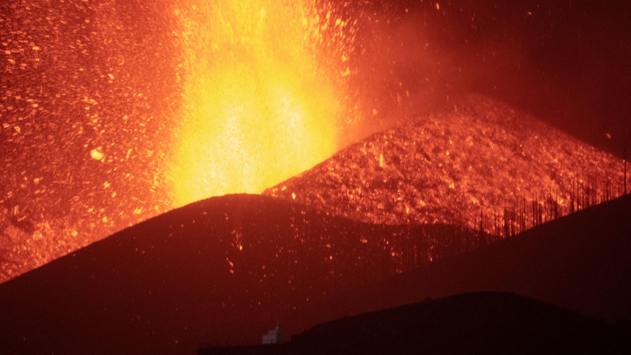 Vulkanutbrottet på La Palma - eldkaskad