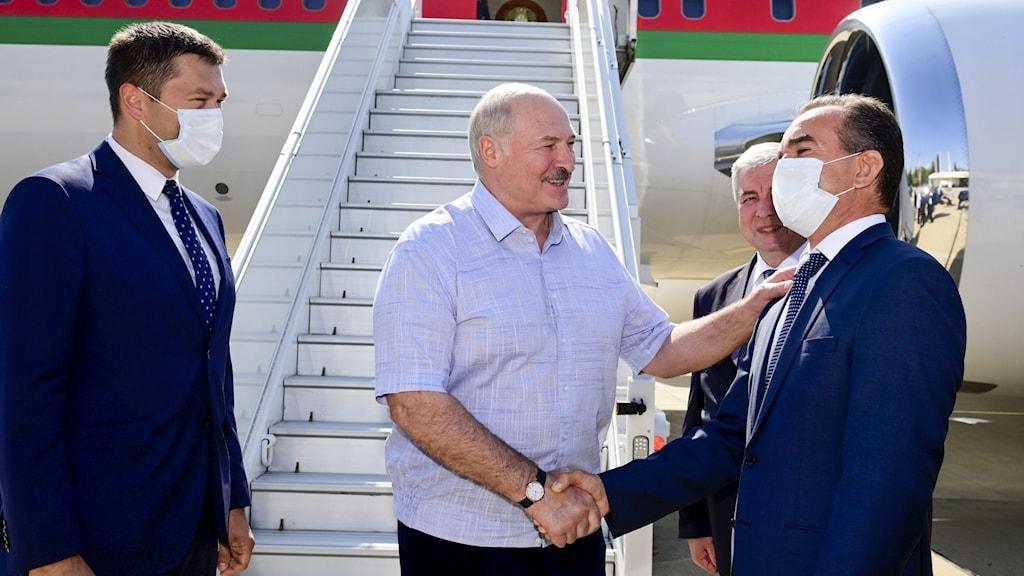 Lukasjenko i Ryssland.