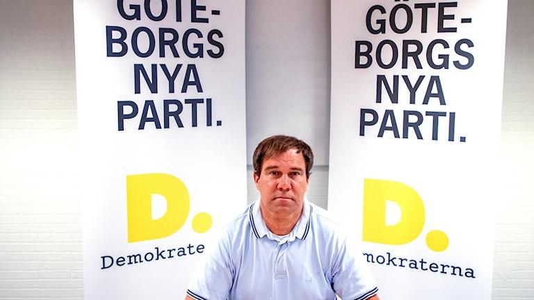 Martin Wannholt, partiledare för det nystartade partiet Demokraterna i Göteborg.