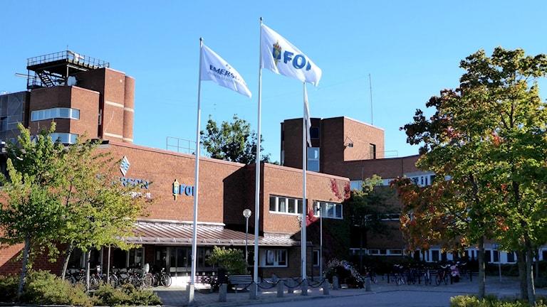 FOI - Totalförsvarets forskningsinstitut i Linköping. Foto: Peter Weyde, Sveriges Radio.