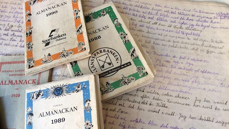Dagböcker och almanackor