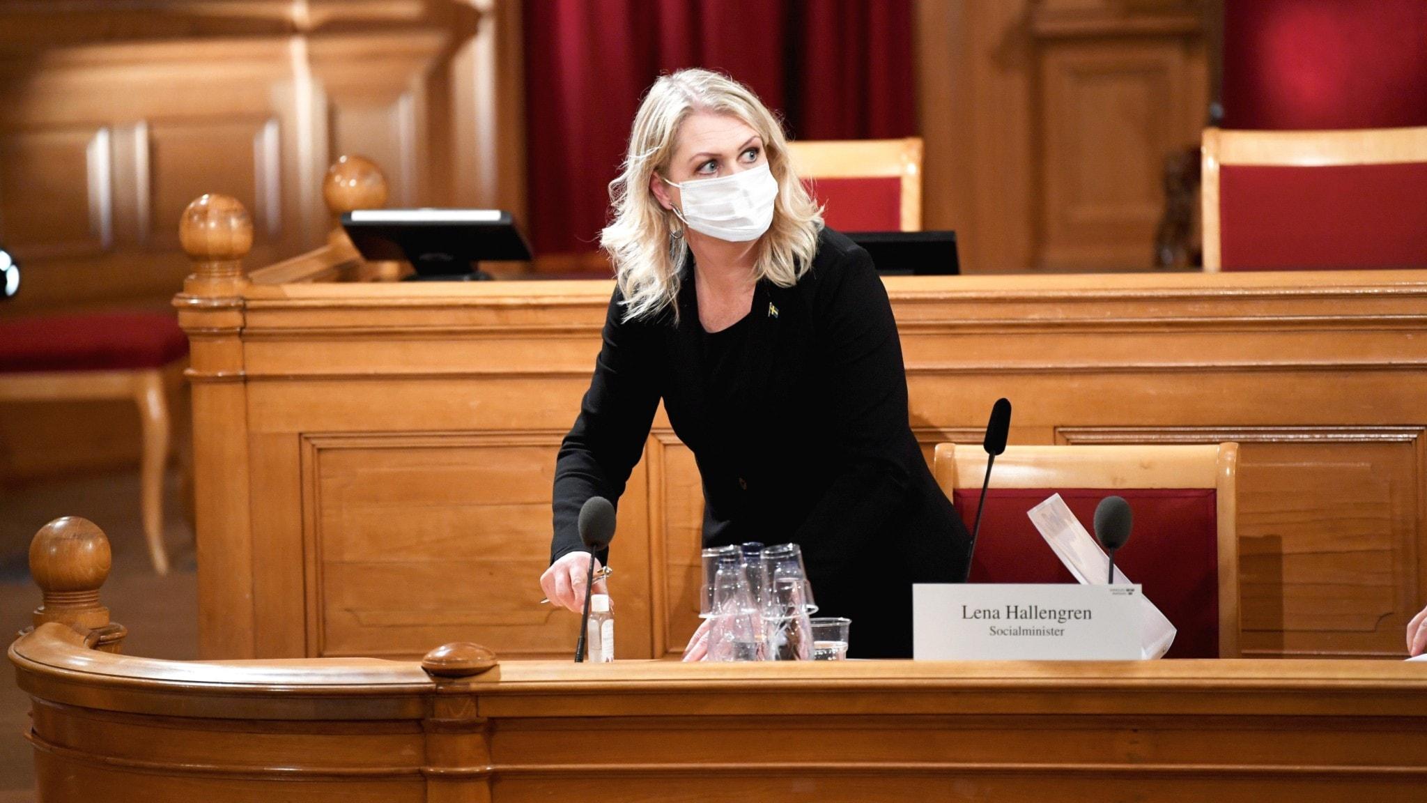 KU-förhör med Socialminister Lena Hallengren