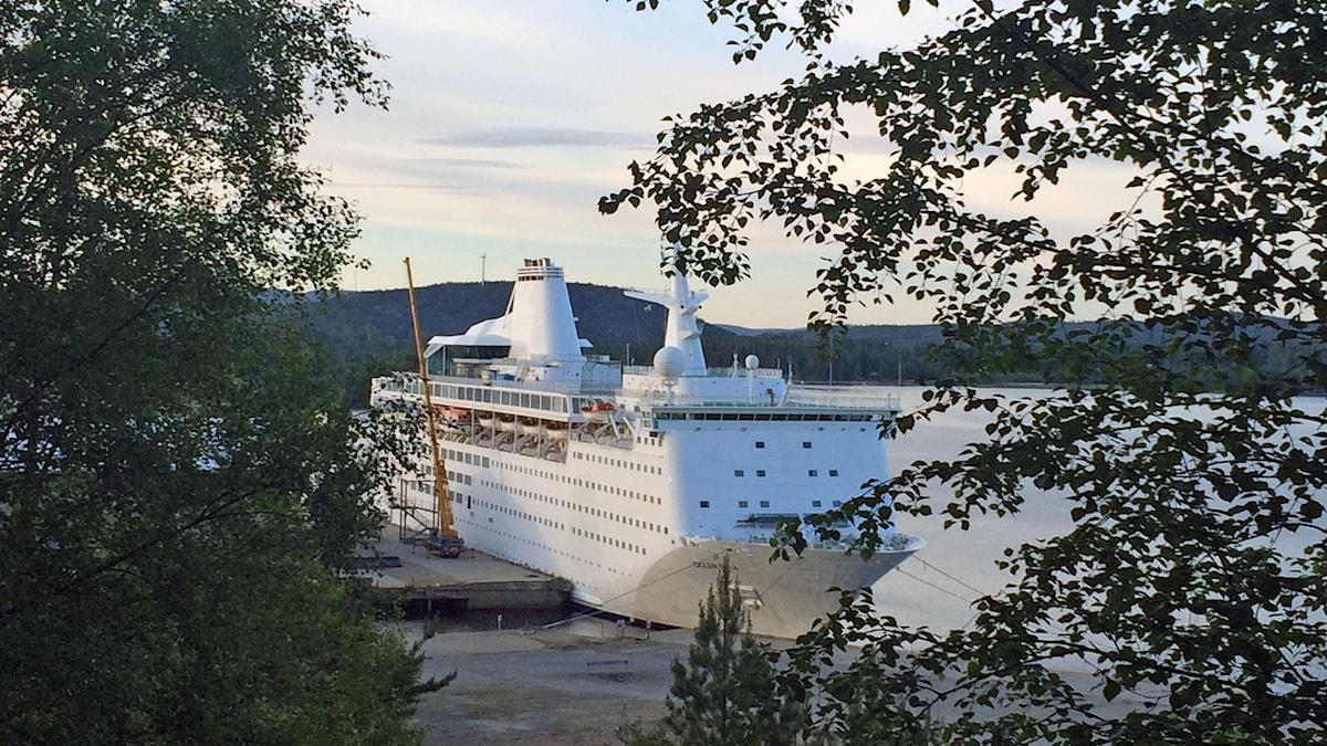Fartyget Ocean Gala på plats i Utansjö, Härnösand.