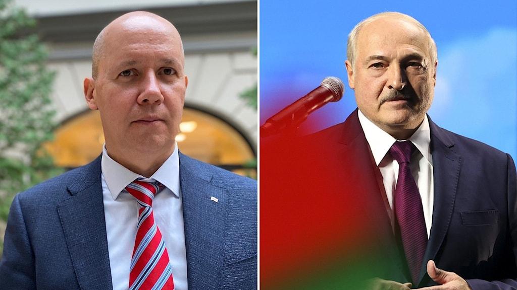 Valerij Tsepkalo och Aleksandr Lukasjenko.