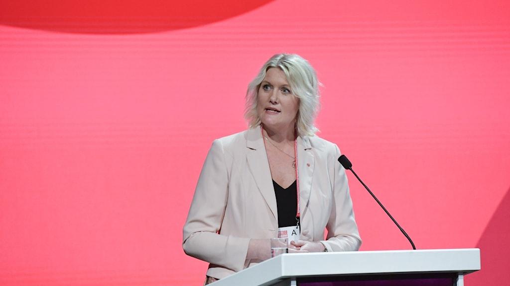 Lena Rådström Baastad, partisekreterare för Socialdemokraterna