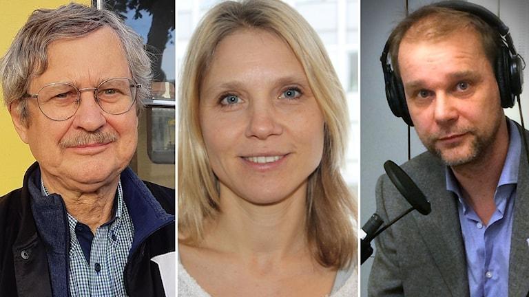 Bo-Lennart Nelldal, professor på KTH inom transport infrastruktur och järnväg, Maria Börjesson, professor i nationalekonomi och Ekots ekonomireporter Kristian Åström.