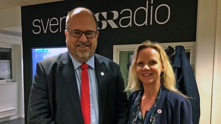 LO:s ordförande Karl-Petter Thorvaldsson, Socialdemokraternas biträdande partisekreterare Katarina Berggren.
